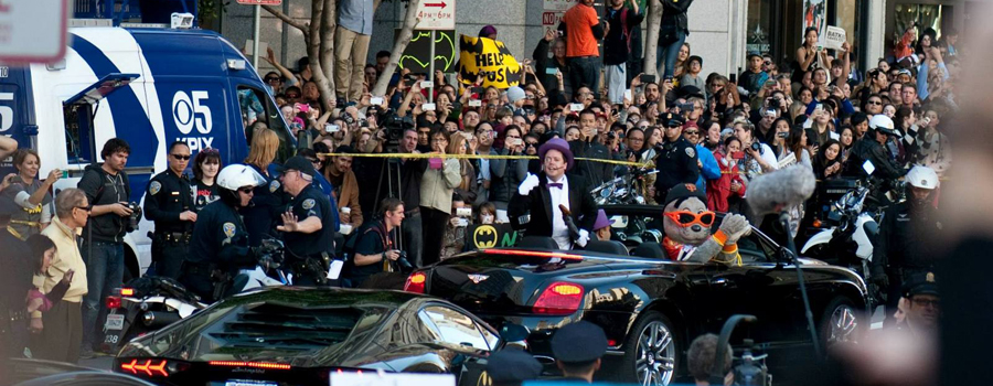 'Kidnapping' the SF Giants Mascot :: Batkid Day :: San Francisco, CA, USA