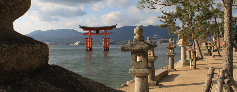 Torii Gates in water :: Miyajima, Japan